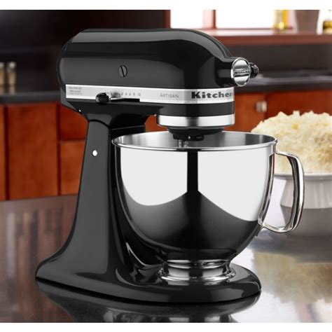 kitchenaid black mixer kitchenaid black 5 quart artisan stand mixer 4ksm150ob williams food equipment
