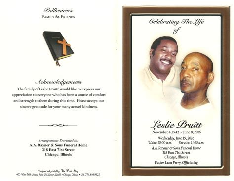 leslie pruitt obituary aa rayner and sons funeral home