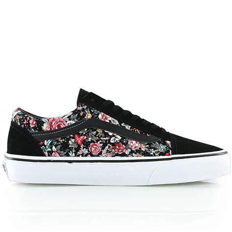Vans Skool Floral Black White vans skool bei kickz