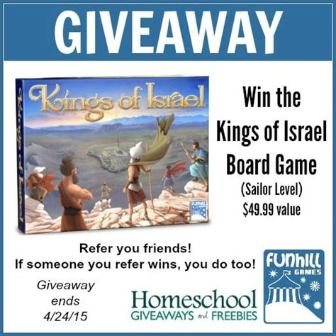 Free Bible Giveaway - kings of israel board game giveaway and free bible studies