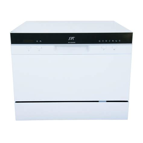Spt Countertop Dishwasher White by Spt Countertop Dishwasher In White With Delay Start And 6