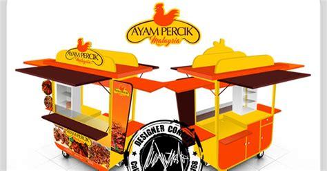 desain gerobak chicken desain logo logo kuliner desain gerobak jasa desain