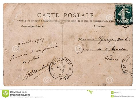 Style Stam by Antique Postcard With St From Stock Photo