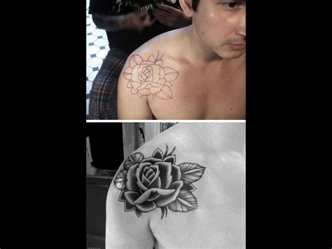 rose shoulder tattoos tumblr dongetrabi black images