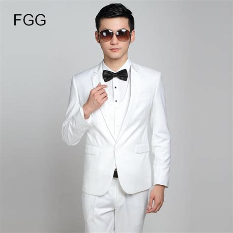 white tuxedo suit for a 1 year old fashion brand groom white wedding suits slim fit one