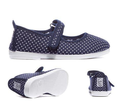 flossy nursery bailen shoe navy polka footasylum