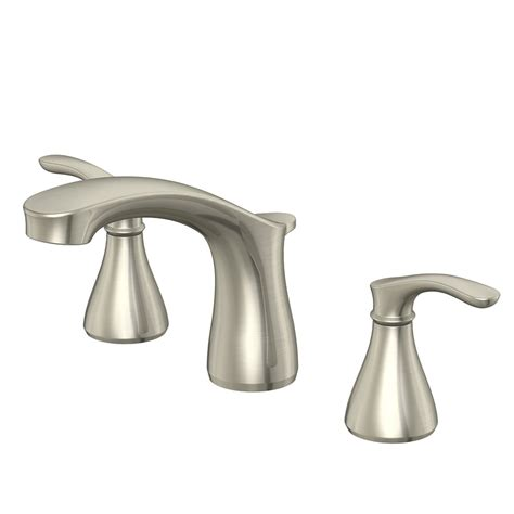 shop aquasource garner brushed nickel 2 handle widespread