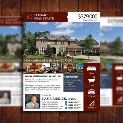 real estate listing flyer template display your newly listed property in style custom new