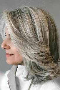 how to blend in gray in hair with low lights amazing gray hairstyles we love southern living