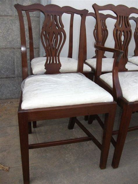 Mahogany Dining Chairs For Sale Set Of 8 Mahogany Dining Chairs Including 2 Carvers For Sale Antiques Classifieds
