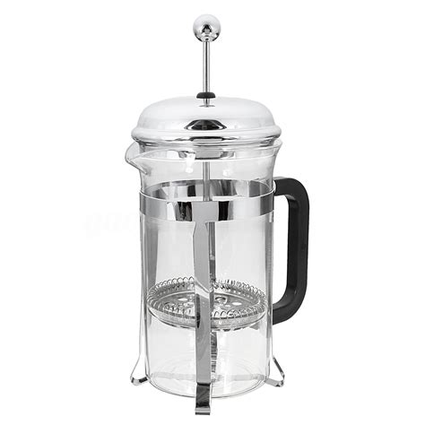 Hetai Press Plunger Coffee Maker 600 Ml For 6 Cups 600ml press coffee plunger maker leaf carafe stainless steel filter bodum ebay