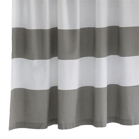 gray and white striped shower curtain grey white striped shower curtain home decor pinterest