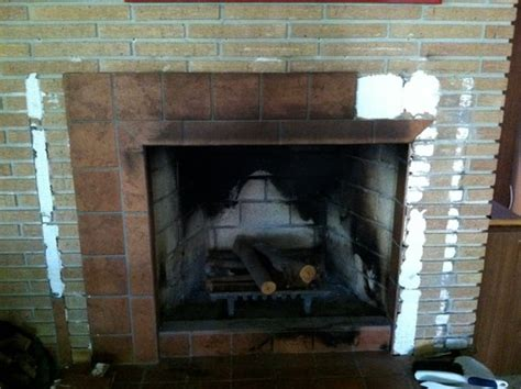 How To Tile A Brick Fireplace by Tile Brick Fireplace