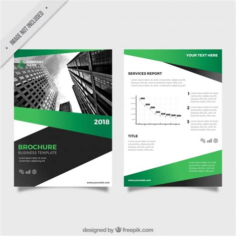 business leaflets templates for free business leaflet template with green and gray forms vector