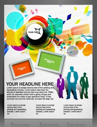 graphic flyer maker stylish brochure flyer design vector graphic 09 vector