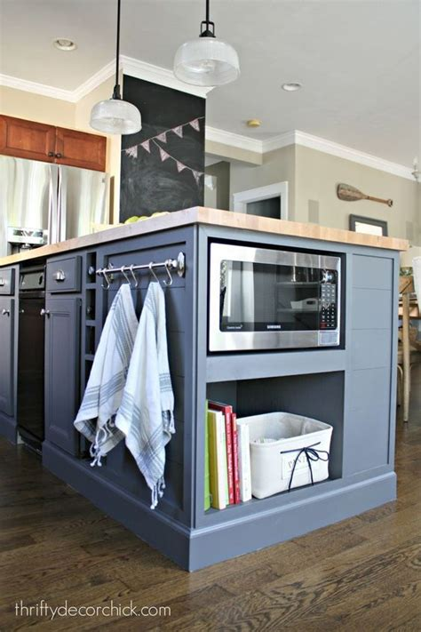 kitchen island with microwave step by step instructions on how to install a microwave in