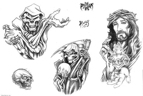 tattoo 13408 skull adn demon design img304 skulls demons