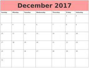 Calendars That Work December 2017 Calendars That Work