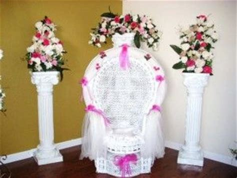 Quinceanera Chair Decorations 21 Best Images About Wicker Chair Decoration Ideas On