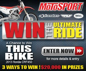Motosport Ultimate Ride Giveaway - motosport announces the ultimate ride giveaway with up to 20 000 in prizes and three