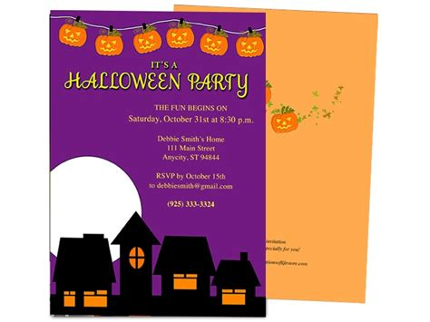 halloween invitation templates microsoft word festival collections