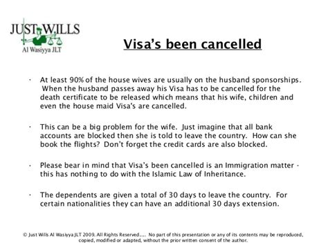 cancellation letter for visa uae importance of a will