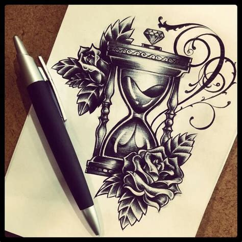 hourglass and rose tattoo 25 best ideas about hourglass on