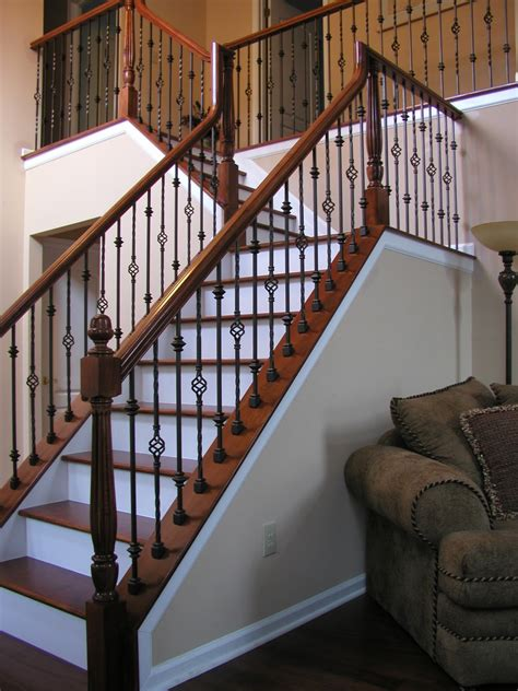 metal banister spindles wrought iron stair railings interior lomonaco s iron