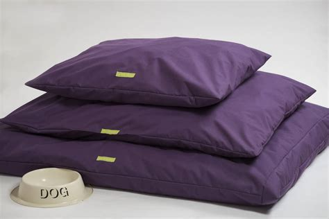 purple dog bed chevron print cushion dog bed by willow whippet notonthehighstreet com