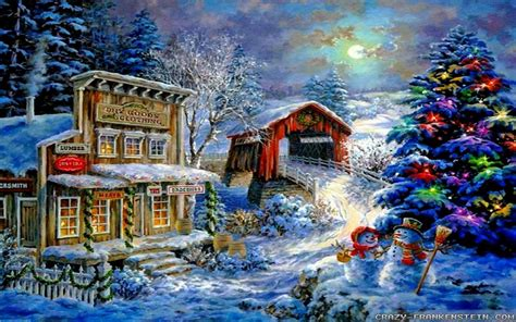 google images christmas scenes christmas winter scenes wallpapers wallpaper cave