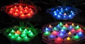 bougies 224 led flottantes deco lumineuse