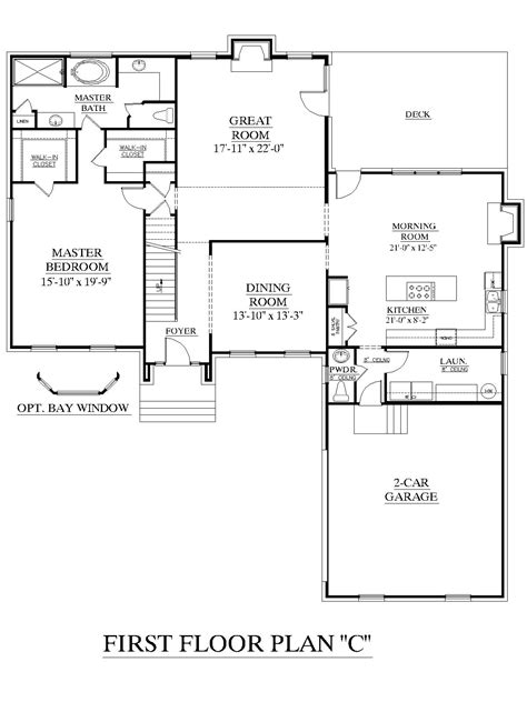 Master Bedroom Upstairs Floor Plans by House Plan 2995 C Springdale Quot C Quot First Floor Traditional