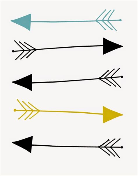 arrow templates free tribal print arrow clipart clipartsgram
