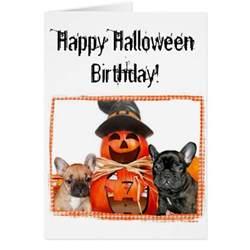 happy halloween birthday images happy halloween birthday french bulldogs greeting card