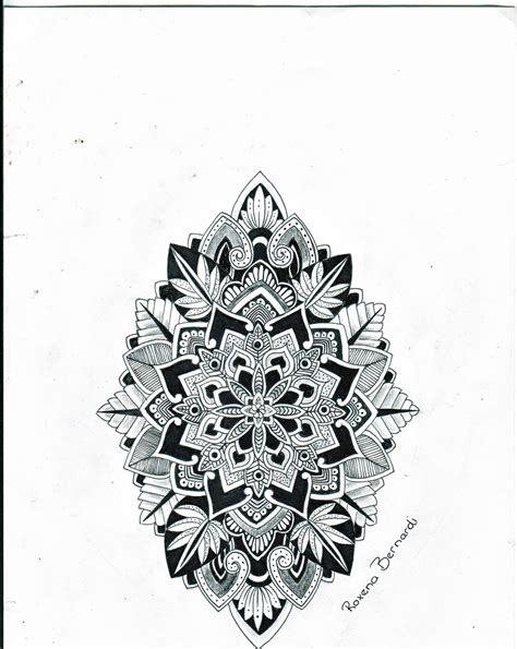 black diamond tattoo jackson ms artistic mandala tattoos drawn by roxena bernardi