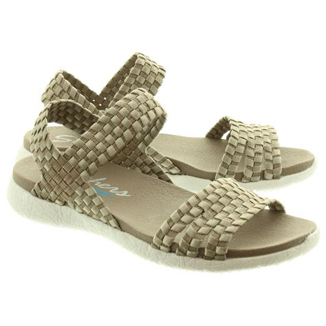 skechers sandals skechers 39060 sandals in taupe in taupe