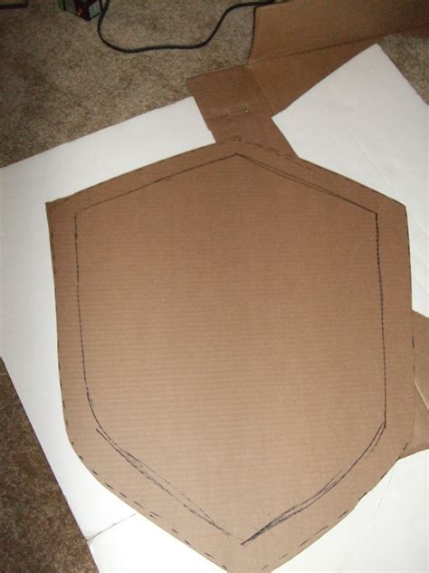 How To Make A Paper Shield Easy - crafts how to make a simple cardboard shield as