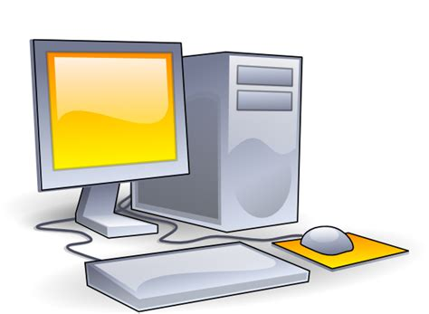 clipart computer desktop computer clip at clker vector clip