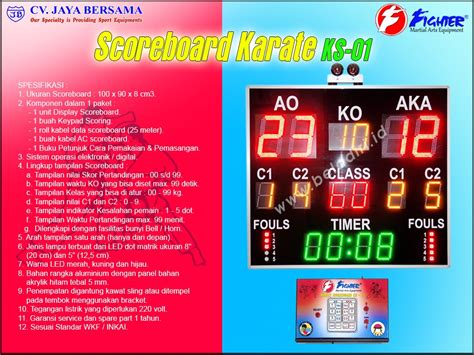Papan Skor Digital Led papan skor digital karate ks 01 karate digital scoreboard