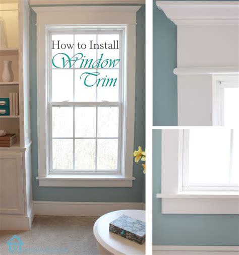installing bathroom window how to install window trim pretty handy girl