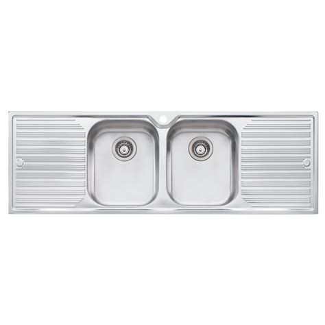 Oliveri 1430 X 480mm Double Bowl Diaz Sink Bunnings Oliveri Kitchen Sinks