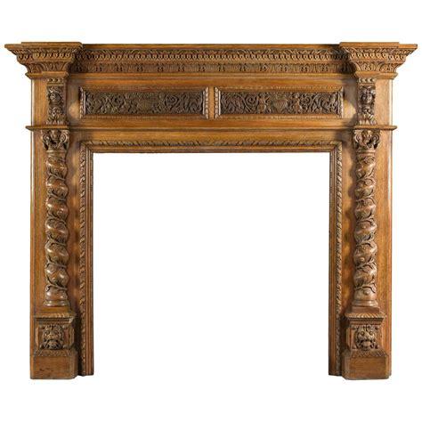 carved fireplace mantels antique italian renaissance style carved oak antique
