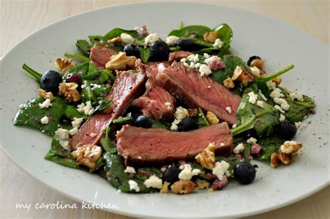 carolina kitchen greens recipe my carolina kitchen steak salad with spinach blueberries
