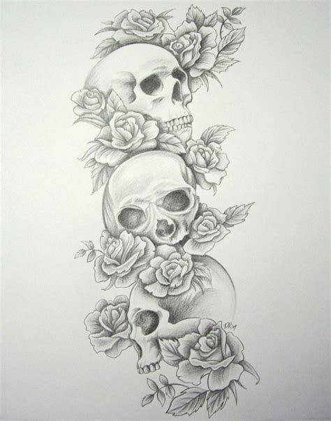 tattoo design rose and skull original skull and roses tattoo designs real photo