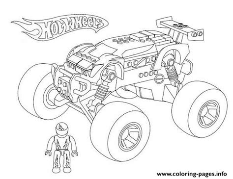 hot wheels monster truck coloring pages printable