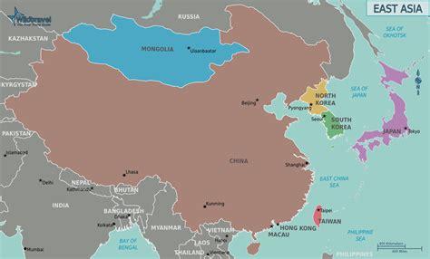 east asia political map mapas fotos e im 225 genes sat 233 lite mundo zonu