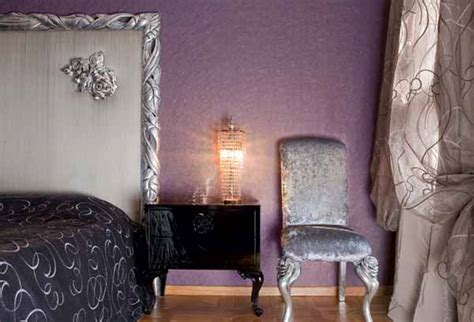 black and lavender bedroom silver black and lavender color combination chic interior decorating