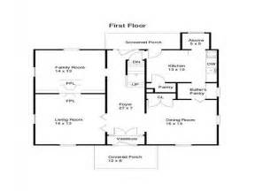 Small Ranch House Floor Plans by Ranch Home Plans First Floor Plan Of Ranch Pictures To Pin