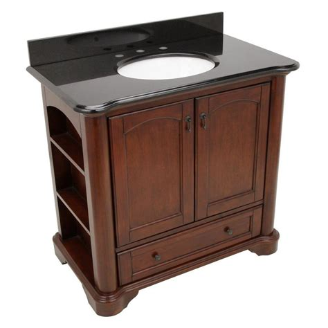 36 Granite Vanity Top by Pegasus Vermont 36 In Vanity In Mahogany With Granite