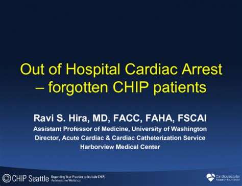 Out Of Hospital by Out Of Hospital Cardiac Arrest Forgotten Chip Patients
